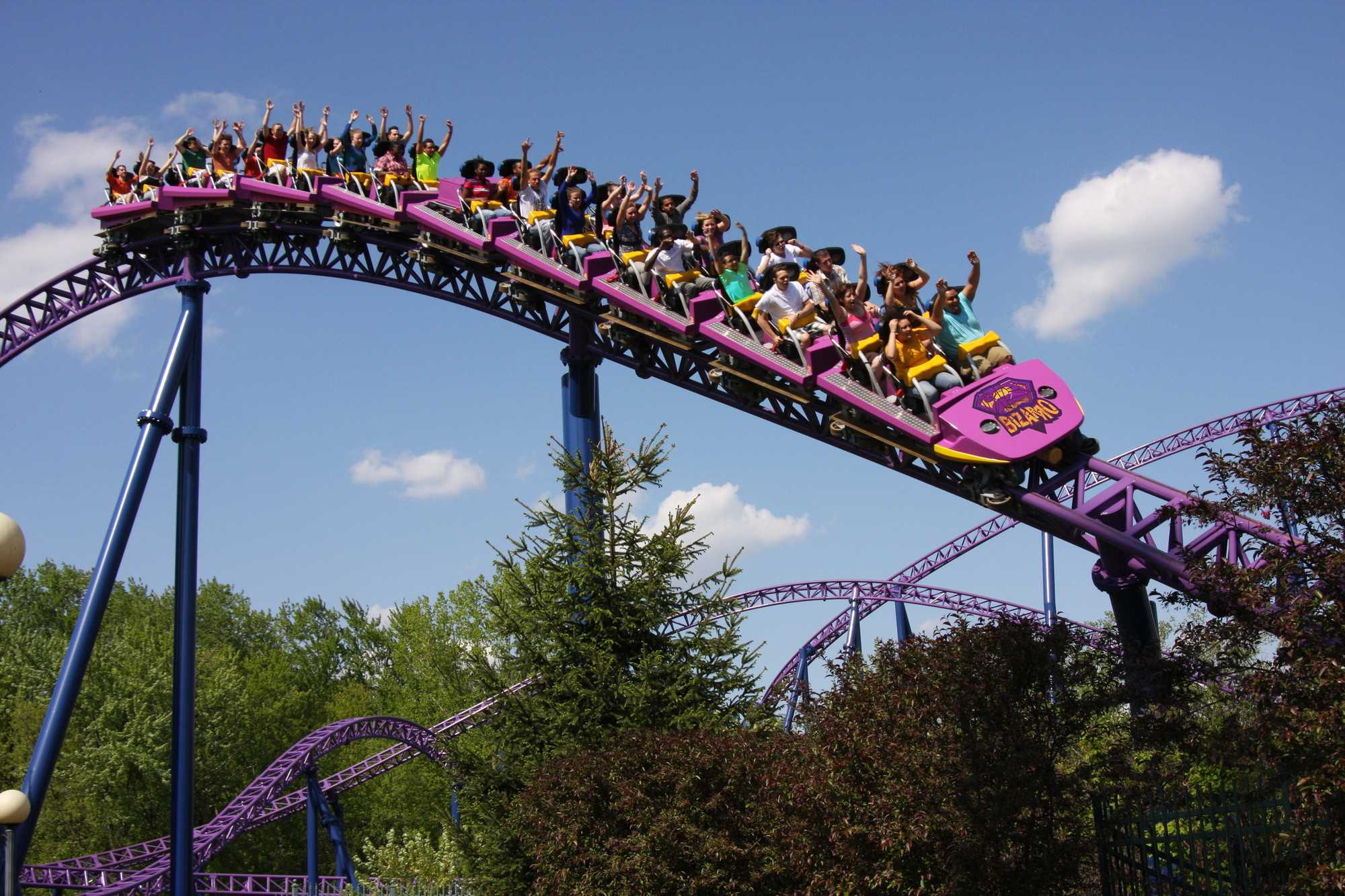 Six Flags New England in Agawam, Mass., is hosting Pride in the Park on Sept. 6 and then its Halloween celebration, Fright Fest, throughout October.