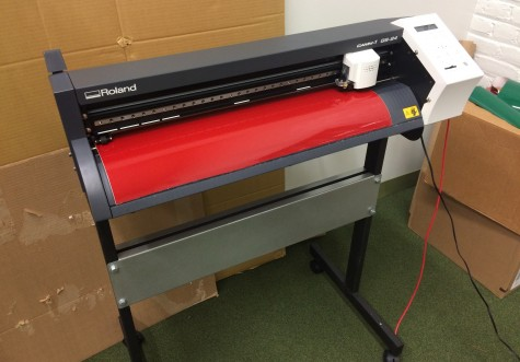 The vinyl cutter is one of the pieces of equipment available to students in the new Fab Lab in the WHS library.