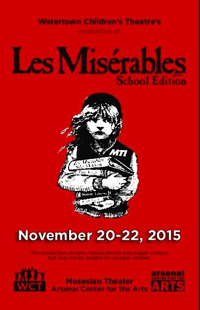 """""""Les Miserables"""" Watertown Children's Theatre Nov. 20-22, 2015"""