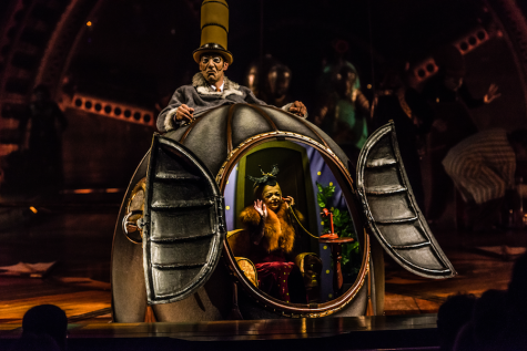 "Mr. Microcosmos (top) and Mini Lili are two of the characters featured in Cirque du Soleil's ""Kurios: Cabinet of Curiosities,"" playing through July 10, 2016, at Suffolk Downs in East Boston."
