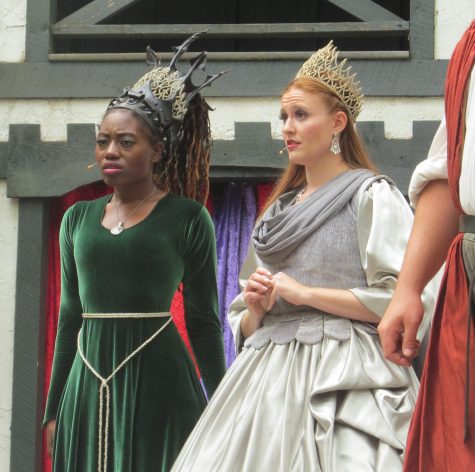 "The princesses have a show-stopper during Act II of the big musical show at King Richard's Faire, ""Weekend at Richard's"" on the King's Stage. (Sept. 3, 2016)"
