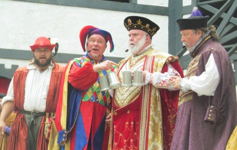 """Weekend at Bernie's"" is spoofed during the big musical show at King Richard's Faire, ""Weekend at Richard's"" on the King's Stage. (Sept. 3, 2016)"