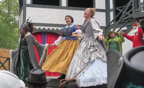 "The princesses sing a little ""Hamilton"" during the big musical show at King Richard's Faire, ""Weekend at Richard's"" on the King's Stage. (Sept. 3, 2016)"