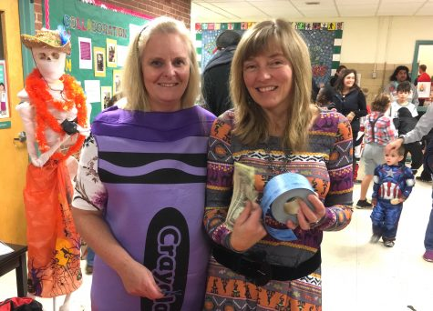 Students -- and parents -- came dressed in costumes of all types at the annual Halloween Party at Cunniff Elementary School in Watertown, Mass., on Oct. 28, 2016.