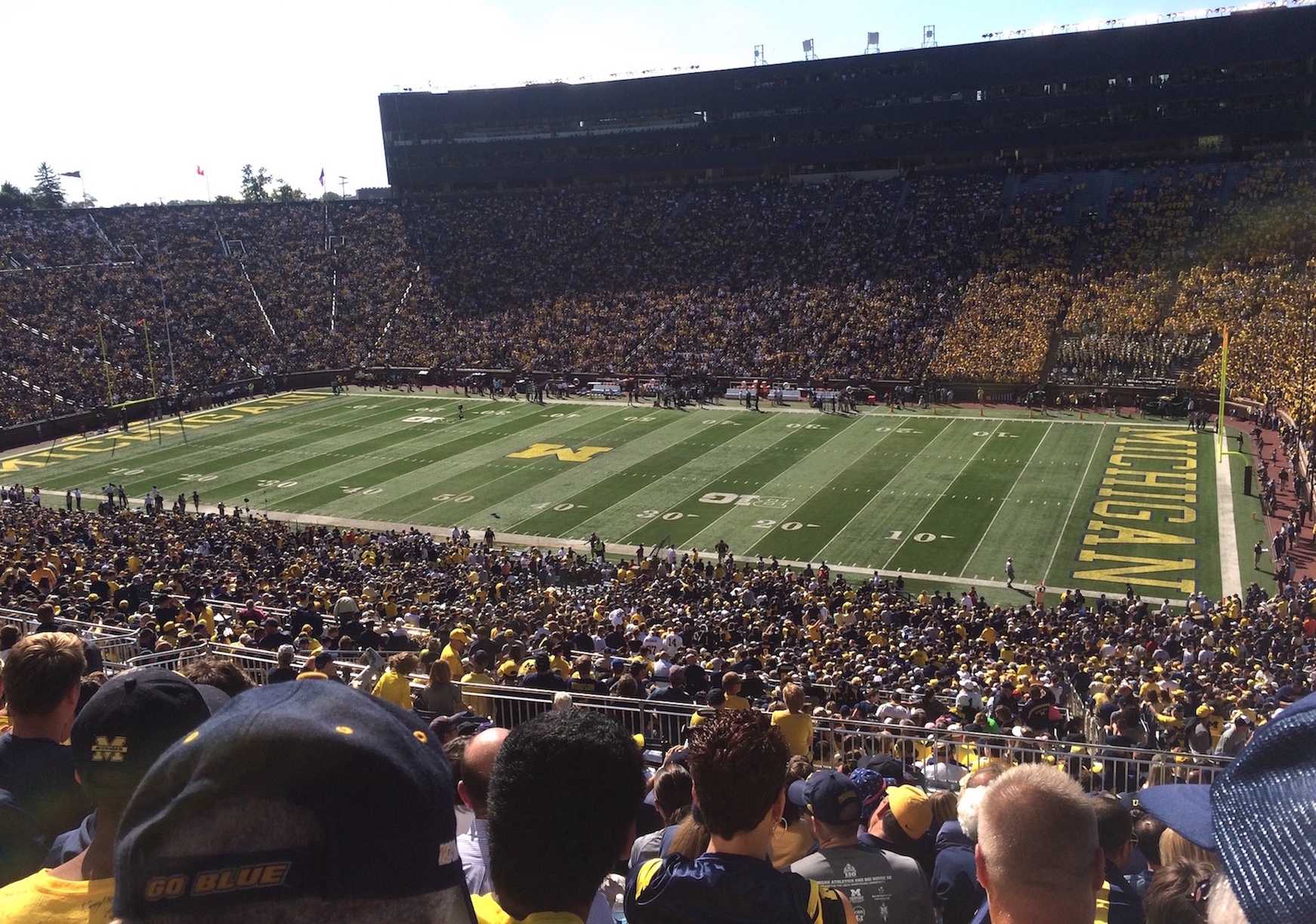 The University of Michigan football stadium in Ann Arbor holds nearly 110,00 people and is the second-largest stadium in the world.