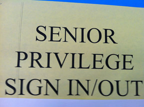 Senior Privileges for Seniors Only