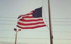 In Florida on April 2013, flags fly at half-staff to show support for Boston after the bombings.