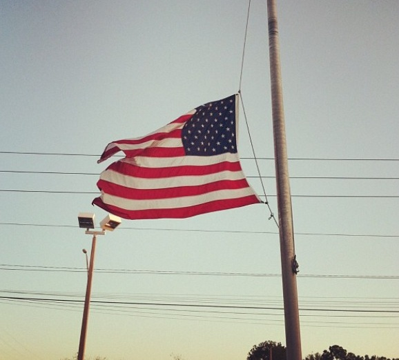 In+Florida+on+April+2013%2C+flags+fly+at+half-staff+to+show+support+for+Boston+after+the+bombings.+