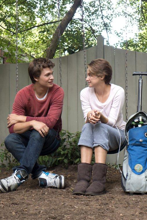 Ansel+Elgort+%28left%29+and+Shailene+Woodley+star+as+Gus+and+Hazel+in+%22The+Fault+In+Our+Stars%22.%0D%0A