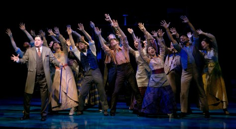 """Michael McGrath and company in the opening number of """"Finding Neverland"""" at the American Repertory Theater in Cambridge through Sept. 28, 2014."""