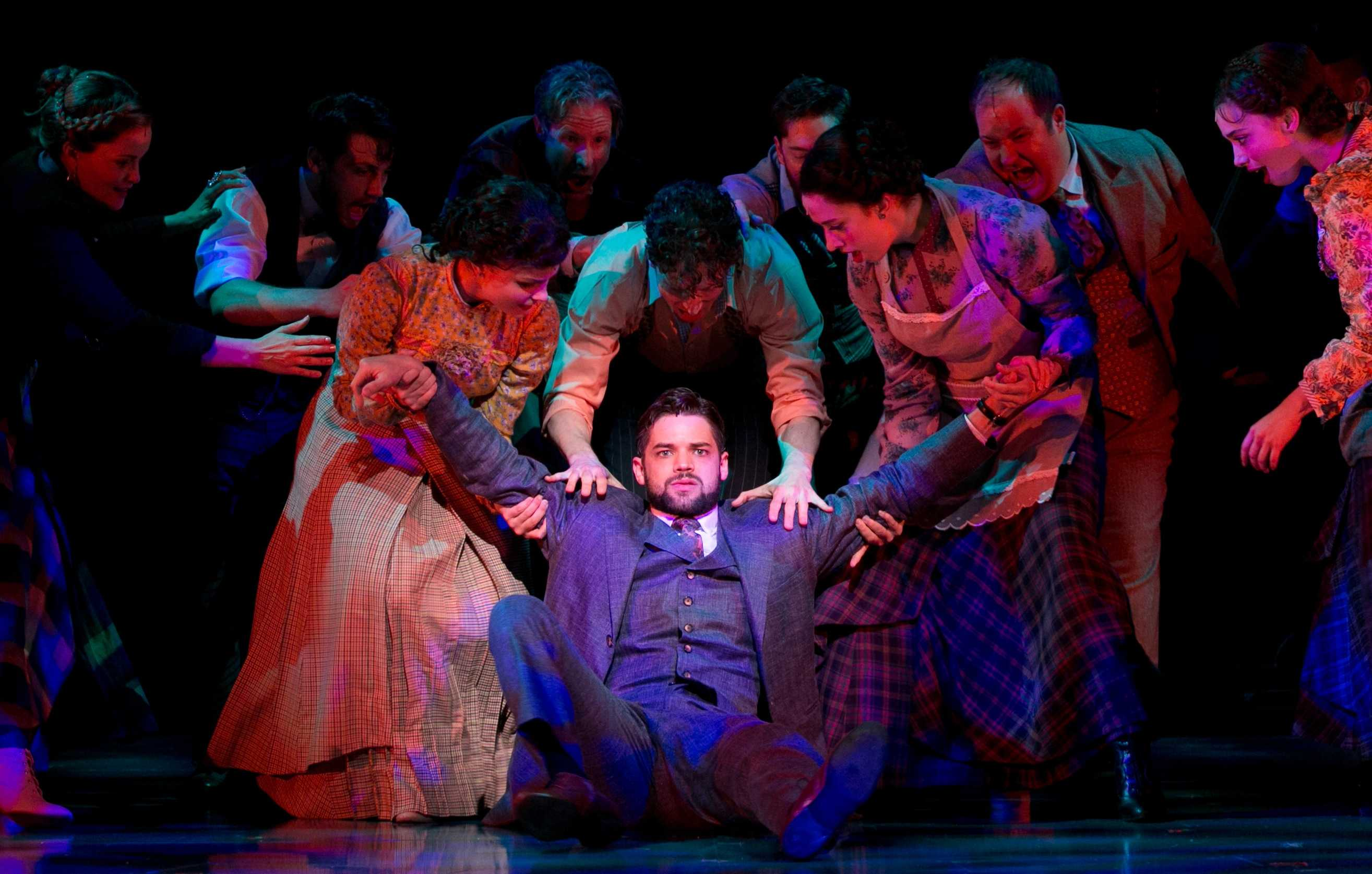 Playwright J. M. Barrie (Jeremy Jordan) gets pulled in many directions in