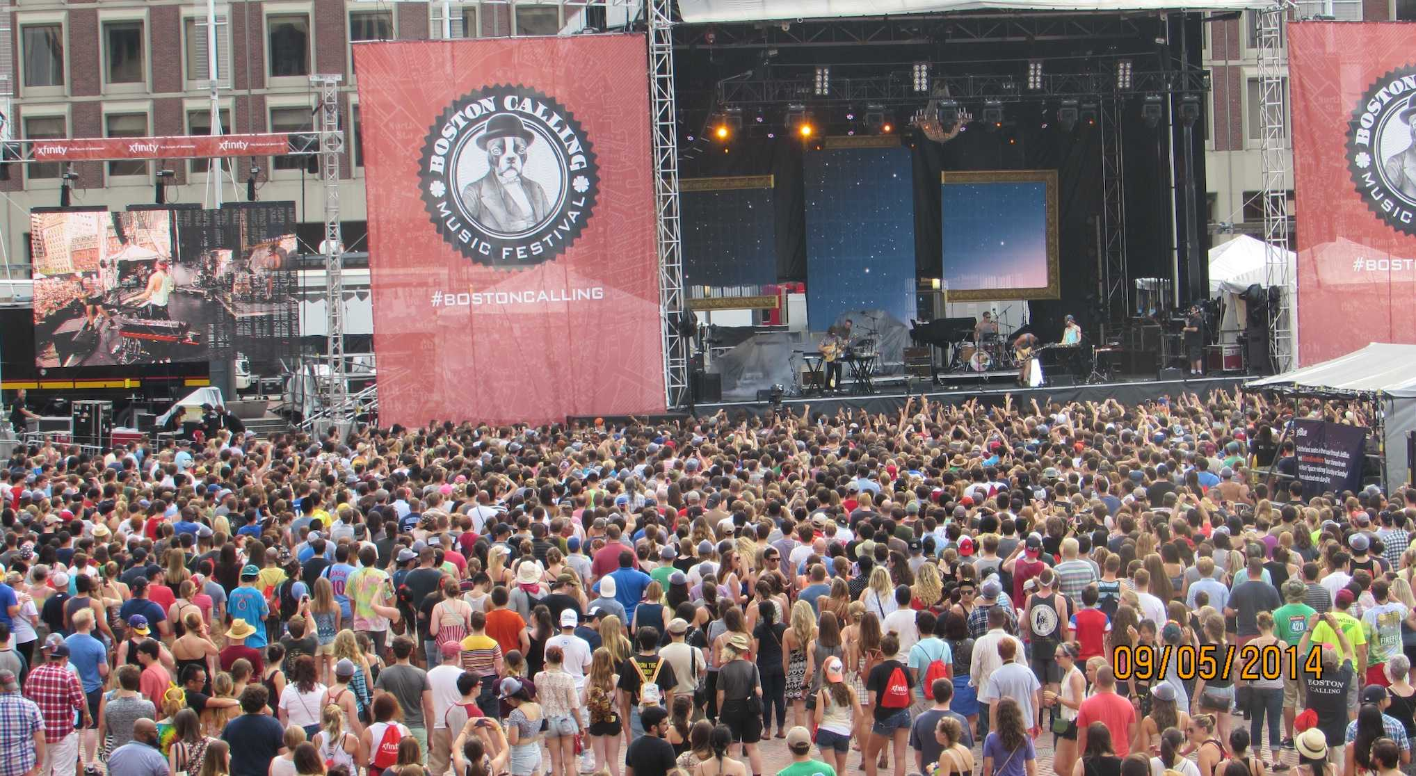 The crowd in front of the Capital One stage, one of two stages set up for the fourth Boston Calling music festival on Sept. 5-7, 2014.