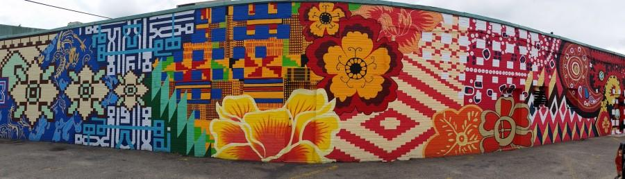 The+completed+mural%2C+%22Tapestry+of+Cultures%2C%22+on+Baptist+Walk+in+Watertown+Square%2C+as+painted+by+Watertown+High+School+students+in+the+summer+of+2014.
