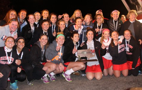 The Watertown High School field hockey team receives a hero's welcome put on by the Watertown Fire Department after winning the 2014 Division 2 state title at Worcester Polytechnic Institute on Sunday, Nov. 16, 2014. The Raiders defeated Auburn, 5-0, to complete their season 23-0 and extend their unbeaten streak to 138 games.
