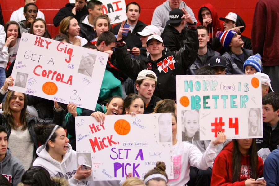 The Watertown High student cheering section will have a busy night Wednesday,, March 4, as the girls hockey team plays at 6 p.m. in Woburn and the girls basketball team plays at 8 p.m. in Malden.