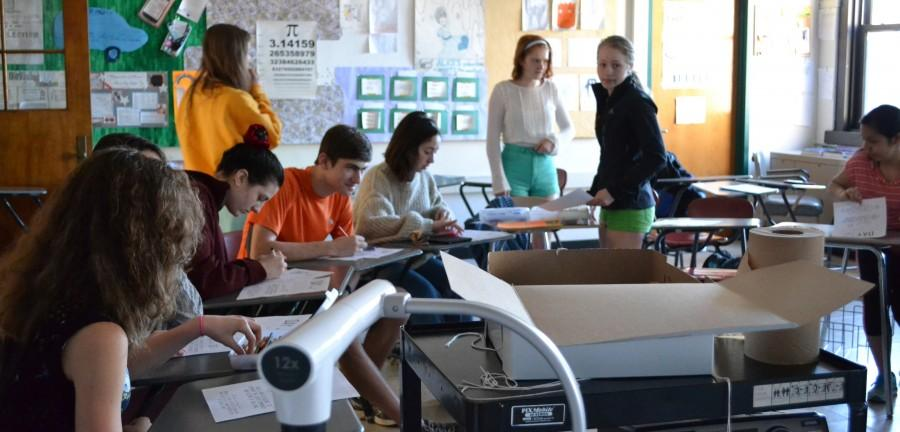 Members of the Watertown High GSA club -- recently renamed the Gender Sexuality Alliance -- work on posters Wednesday morning before school to promote the National Day of Silence on Friday, April 17.