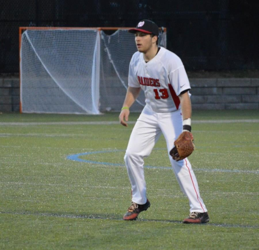 Andrew Massarotti during Watertown High's 15-8 loss to Wakefield in nine innings on Wednesday, April 15, at Victory Field.