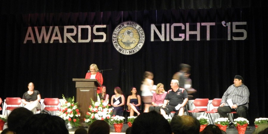 The+annual+Awards+Night+at+Watertown+High+School+was+held+May+28%2C+2015%2C+and+hosted+by+principal+Shirley+Lundberg.+More+than+%24100%2C000+in+scholarships+were+awarded+to+Watertown+High+seniors.