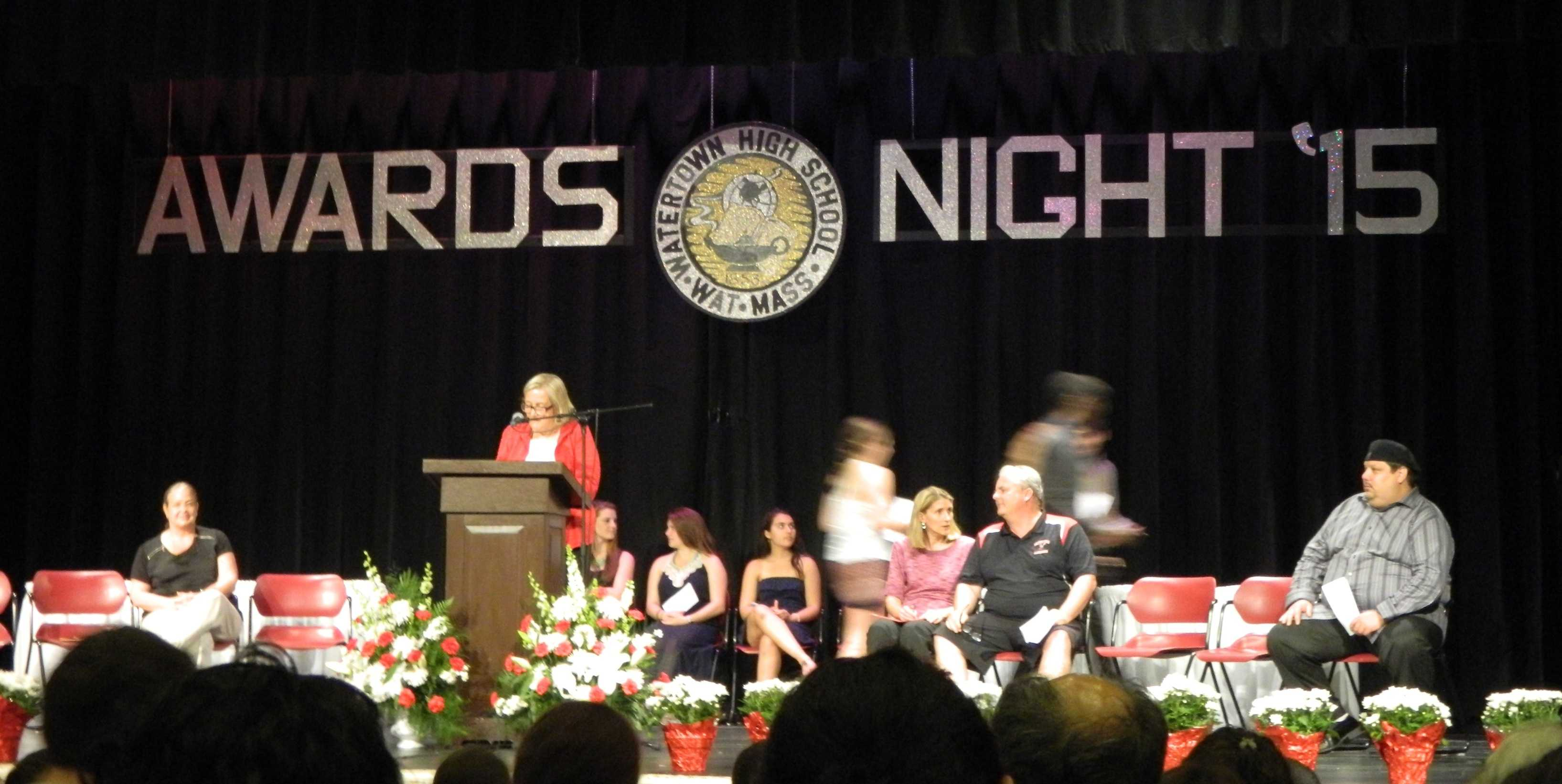 The annual Awards Night at Watertown High School was held May 28, 2015, and hosted by principal Shirley Lundberg. More than $100,000 in scholarships were awarded to Watertown High seniors.