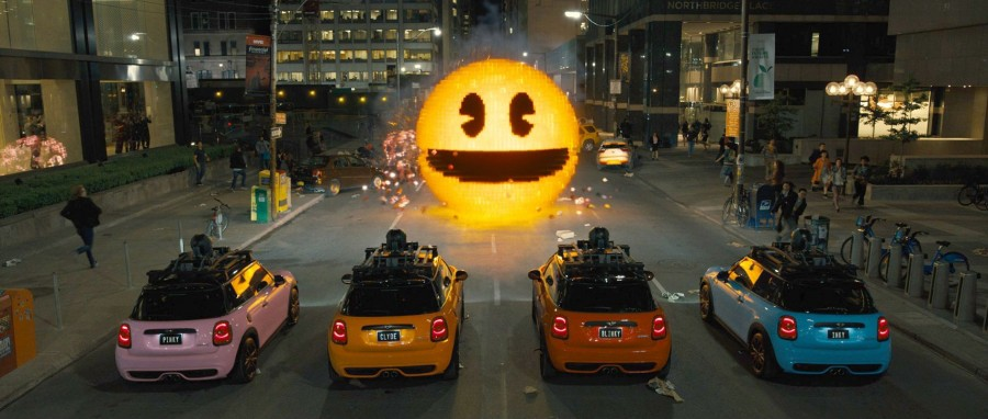Pac-Man+is+just+one+of+the+many+1980s-era+video+games+come+to+life+in+Adam+Sandler%27s+newest+film%2C+%22Pixels%22.+