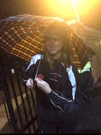 Rachel Morgan, ticket taker at Victory Field.
