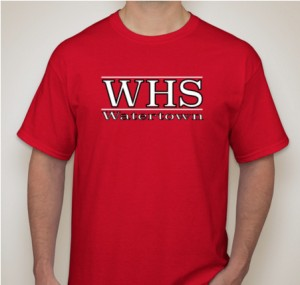 A Watertown High T-shirt being sold as part of a fund-raiser by the 17 students and teachers heading to Costa Rica over April break. WHS merchandise is only on sale through the end of January.