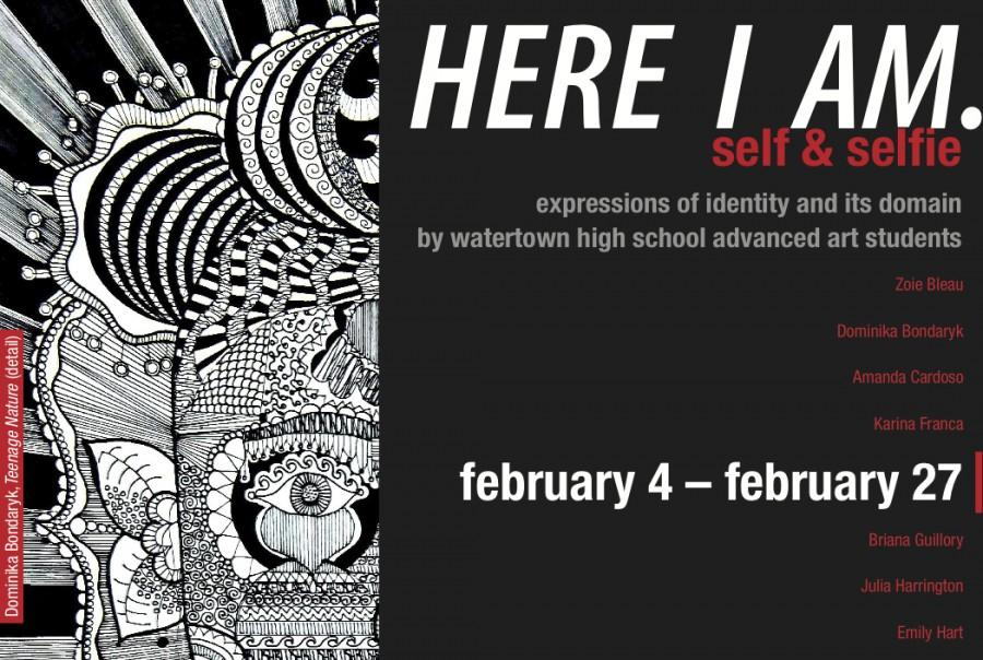 WHS students draw on inspiration for gallery show on selfies