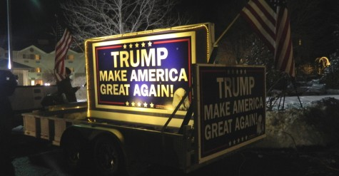 The post-election party for presidential candidate Donald Trump was held at Executive Court Banquet Facility in Manchester, N.H., on Feb. 9, 2016, following the New Hampshire primary.