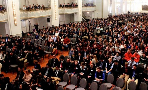 The awards ceremony capped the final day of the 2016 Boston Invitational Model United Nations Conference, hosted by Boston University and held at the Park Plaza Hotel.