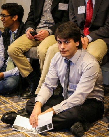 Stefanos Kiorpes was one of the nine student delegates representing Watertown High at the 2016 Boston Invitational Model United Nations Conference.