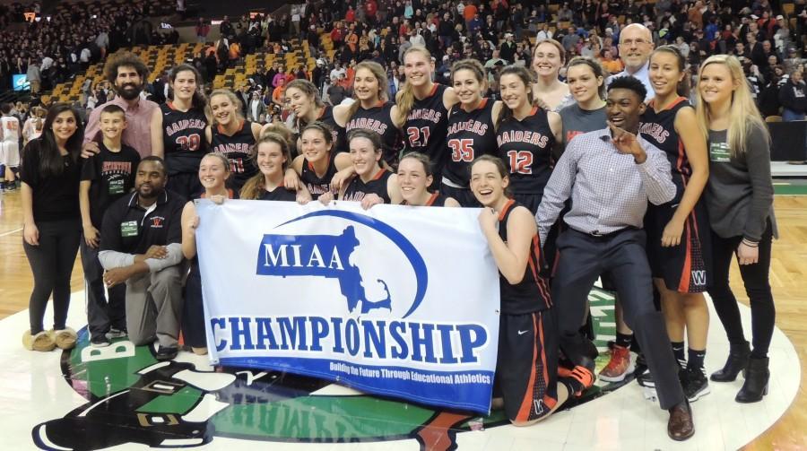 Oliver Ames Watertown TD Garden girls' basketball MIAA Sarah Lampasona