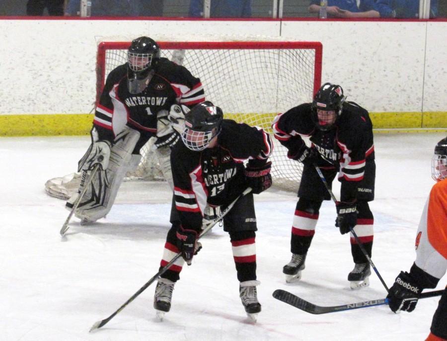 Wayland Watertown High School Division 3 North hockey Raiders MIAA Melissa Rose
