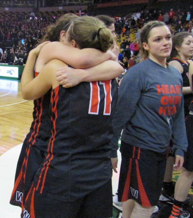 Oliver Ames Watertown TD Garden girls' basketball Raiders Div. 2 Melissa Rose