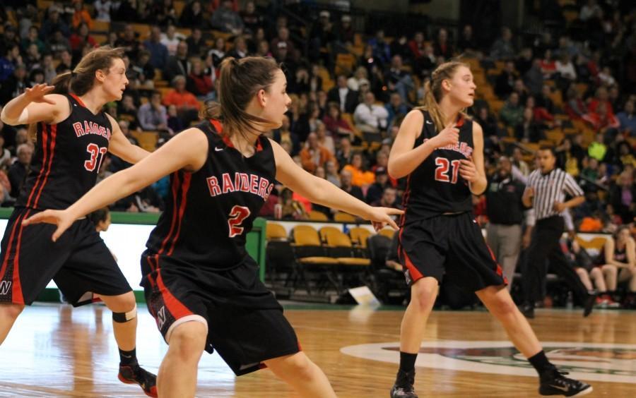 Oliver Ames Watertown TD Garden girls' hoop EMass Raiders Div. 2 Grace Duguay