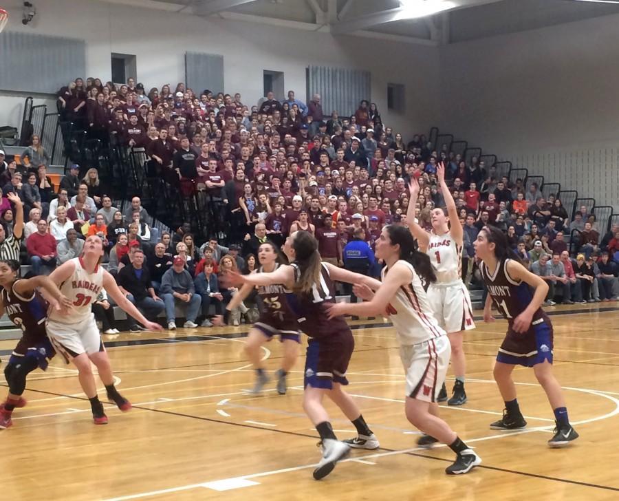 Watertown High Belmont Division 2 North title girls' basketball MIAA Sarah Lampasona