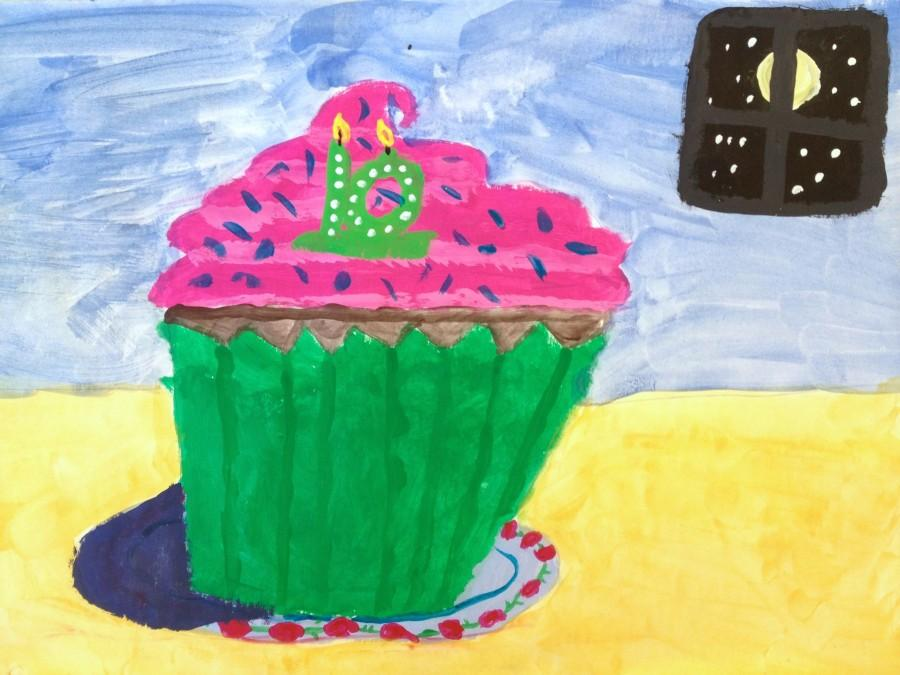 A+cupcake+by+Hosmer+Elementary+third-grader+Cammy+Farrar%2C+a+work+inspired+by+a+lesson+on+Wayne+Thiebaud+and+one+that+will+be+included+in+the+2016+Watertown+public+schools+art+show+that+will+run+from+April+1+to+April+26+at+Watertown+Mall.