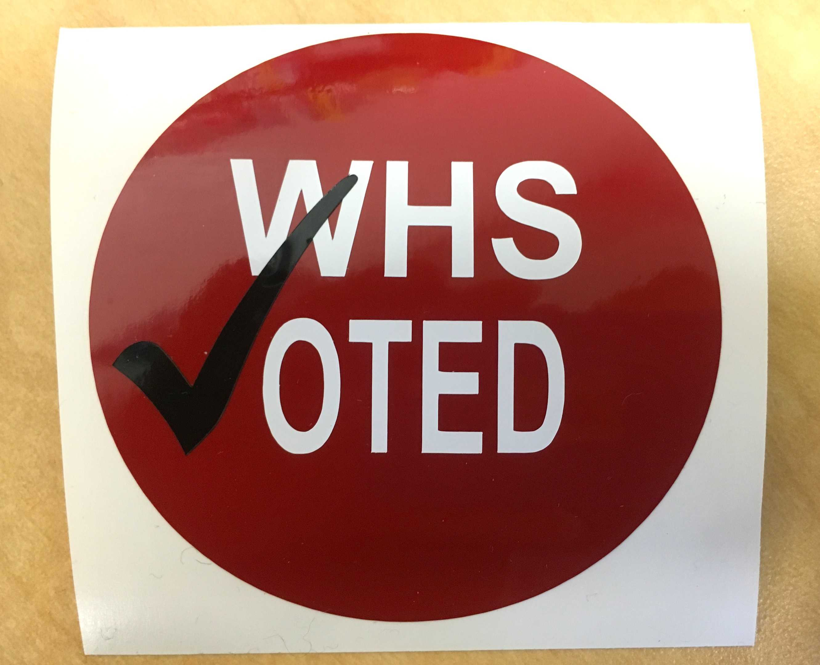 More than 270 students, faculty, and staff at Watertown High School voted in the Super Monday presidential election event on Feb. 29, 2016 -- with the Fab Lab creating special stickers to mark the occasion.
