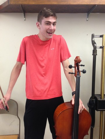 Cellist Jeremy Breen is ready to have some fun at the art and music showcase at Watertown High School on Wednesday, April 13, at 7 p.m.
