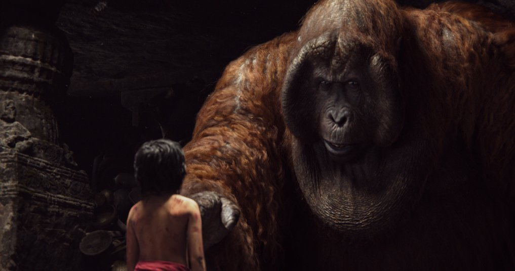 Mowgli meets King Louie, one of the many amazing CGI creations in Disney's new version of