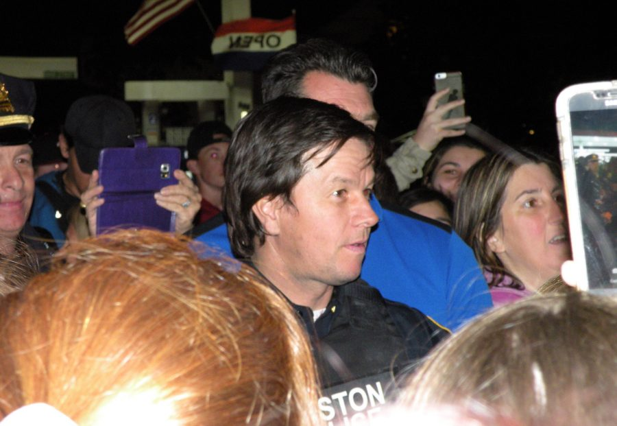 Mark Wahlberg greets fans in Watertown after shooting a scene for