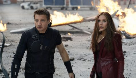 "There are plenty of superheroes in ""Captain America: Civil War"" including Hawkeye (left) and Scarlet Witch."