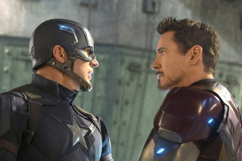 """In """"Captain America: Civil War"""", a split occurs in the Avengers, forcing Captain America (Chris Evans) to oppose Iron Man (Robert Downey Jr.)."""