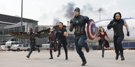 """In """"Captain America: Civil War"""", the Avengers pick sides with Team Cap featuring (from left) Falcon (Anthony Mackie), Ant-Man (Paul Rudd), Hawkeye (Jeremy Renner), Captain America (Chris Evans), Scarlet Witch (Elizabeth Olsen), and Winter Soldier (Sebastian Stan)."""
