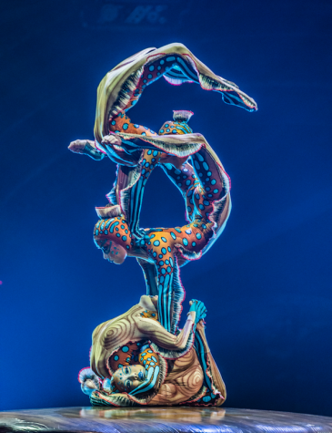 "Contortion is one of the many extraordinary acts in Cirque du Soleil's ""Kurios: Cabinet of Curiosities,"" playing through July 10, 2016, at Suffolk Downs in East Boston."
