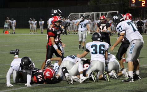 The Watertown High School football team won its home opener, 24-6, over Plymouth South on Sept. 16, 2016.