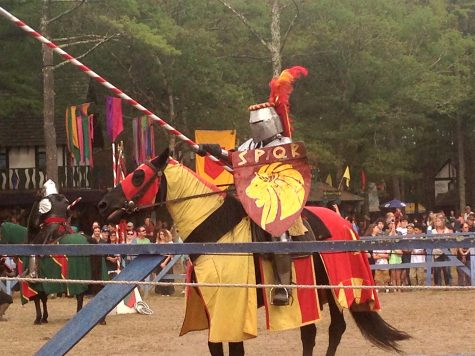 The joust at King Richard's Faire in Carver, Mass. (Sept. 3, 2016)
