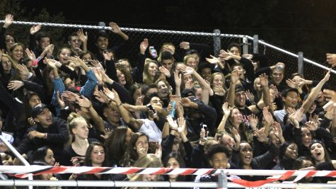 The fan section at Victory Field was full for Watertown High's football game against Wakefield on Sept. 23, 2016.