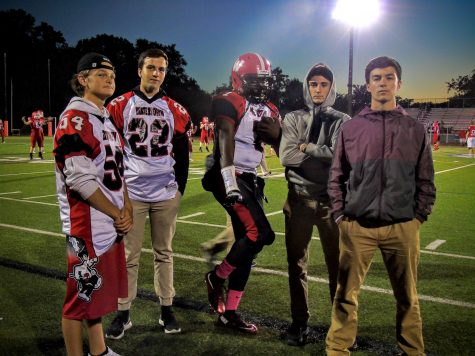 The Raiders had their game faces on before beating host Burlington, 31-28, in a Middlesex League football game on Friday night, Oct. 7, 2016. With the victory, Watertown improved to 4-1.