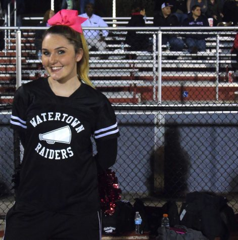The Raiders cheerleaders made the trip to Burlington to watch a 31-28 victory on Friday night, Oct. 7, 2016. With the victory, Watertown improved to 4-1.