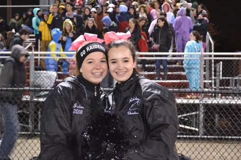 The Raiders cheer squad was on hand at Victory Field as Watertown High beat Austin Prep, 34-18, on Friday Oct. 28, 2016, to advance in the MIAA Division 3 North football playoffs.
